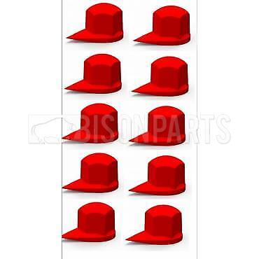 DUSTITE LONG REACH WHEEL NUT INDICATOR COVER CAP YELLOW 33MM x10