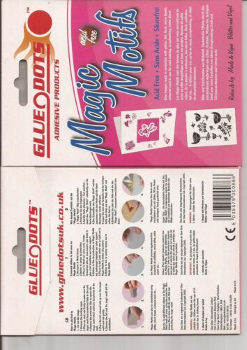 615-27 Robin /& Ivy Glue Dots Magic Motifs Glue Shapes