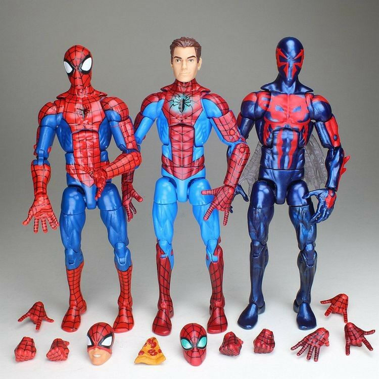 Marvel - legenden 2099 spiderman peter parker entlarvt pizza spidey avengers abbildung
