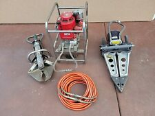 Hurst Jaw Of Life With Spreader Cutter Hydraulic Power Pack Hose Set