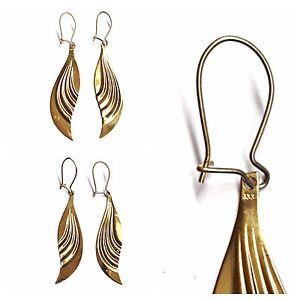 Bella-Orecchini-pendenti-333-dorati-gioielli-oro-goldohrhanger-8-carati-giallo