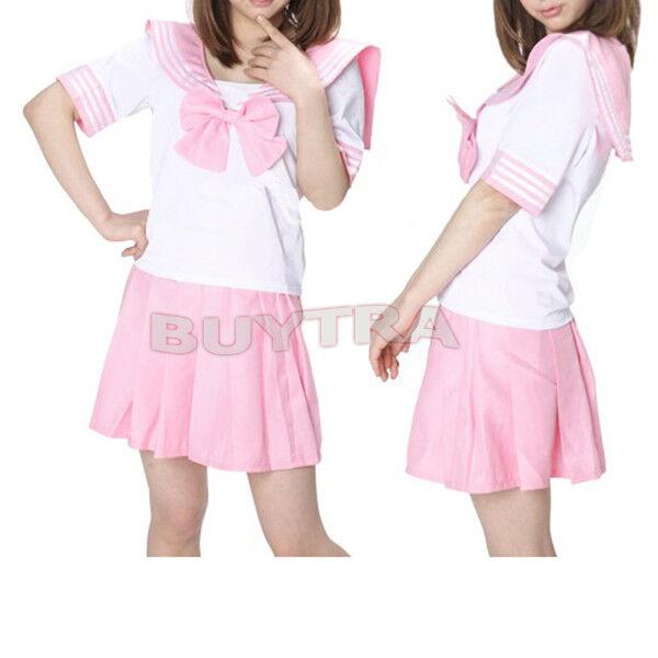 7C Japanese Japan School Uniform Dress Cosplay Costume Anime Surcoat Lolita FO