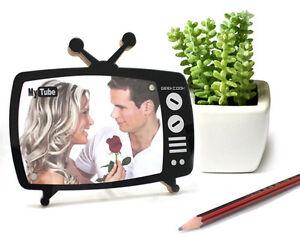 Fotorahmen-TV-Design-Bilderrahmen-Fernsehen-Tischrahmen-Modern-Acryl-Rahmen
