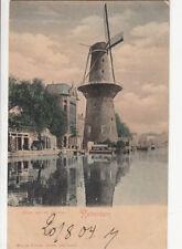 CPA PAYS-BAS NEDERLAND ROTTERDAM molen aan de coolvest moulin gefrankeerd
