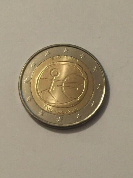 2019 Nouveau Style Piece 2€ Slovenie Annee 2009 10 Ans Union Economique Et Monetaire Neuve