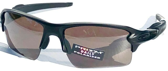 17fae83e9a4 NEW  Oakley FLAK JACKET 2.0 Black POLARIZED PRIZM Grey Daily Sunglass 9188 -39