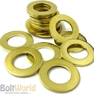 Full Assortment of Sizes Available in Listing Brass Flat Washers Solid Brass