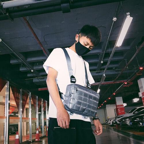 Fashion Nylon Chest Rig Bag Black Vest Hip Hop Streetwear Functional Tactical