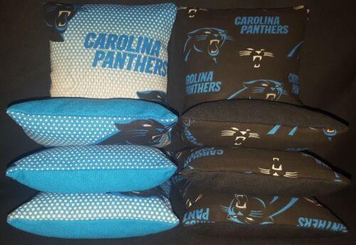 Carolina Panthers Set of 8 Cornhole Bean Bags FREE SHIPPING
