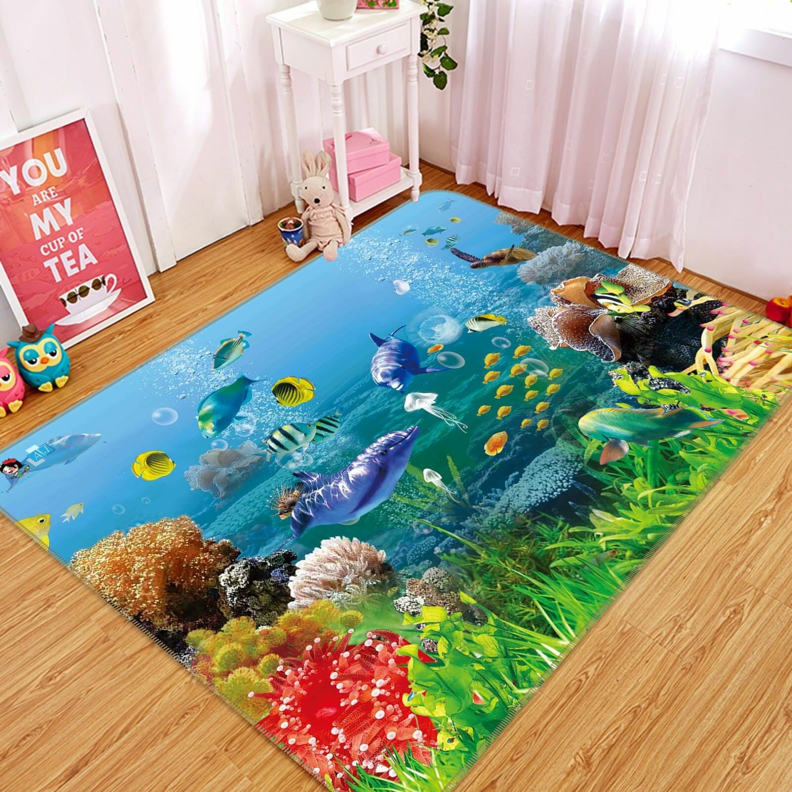 3D Magic Ocean World 1 Non Slip Rug Mat Room Mat Quality Elegant Photo Carpet AU