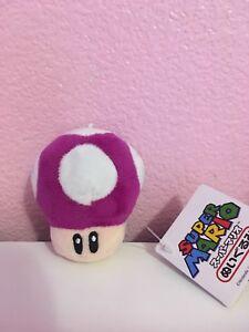 Llavero De Peluche Super Mario Hongo Purpura Japones Nuevo Ebay