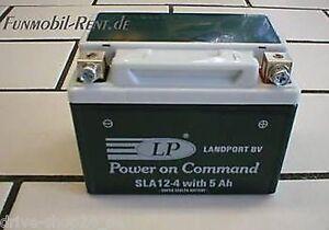 landport batterie sla12 4 gel system 5ah neu roller ebay. Black Bedroom Furniture Sets. Home Design Ideas