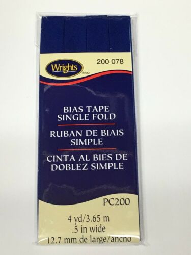 Wrights ~ Bias Tape Single Fold ~ PC200