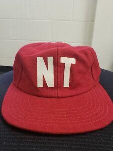 Vintage New Era Pro Model Wool Baseball Hat Cap NT Logo 1930s 63f0bedb807