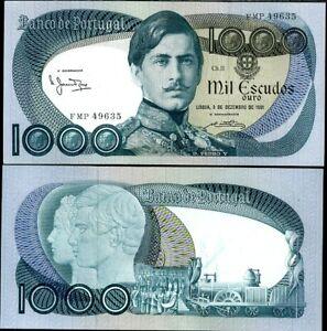 PORTUGAL 1000 1,000 ESCUDOS 3-12-1981 P 175 UNC