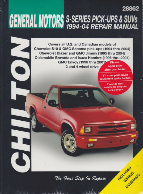 2001 chevrolet s10 owners manual