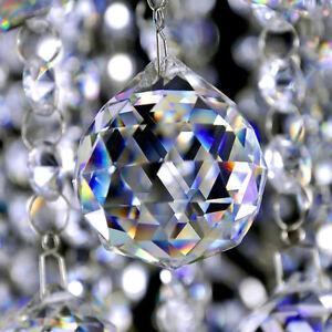 Feng Shui Clear Hanging Crystal Suncatchers Rainbow Sphere Prism Window Decor