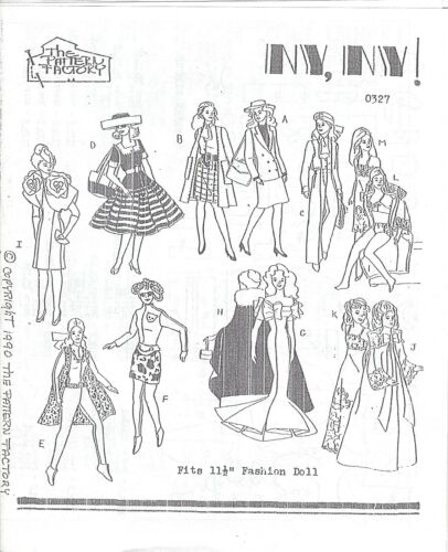 New York outfits Doll Pattern For Barbie  Rare