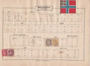 norway early  stamps as shown ref 12318