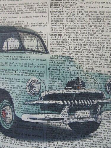 man cave gifts motor mechanic gifts Holden FJ Car Wall Print No.365