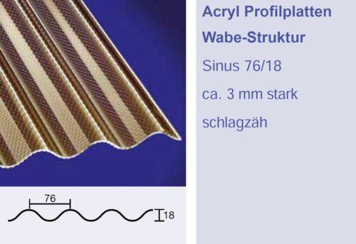 3mm ACRYLGLAS-Wellplatte 76//18 Sinuswelle bronce ACRYL Wellplatten *Muster*