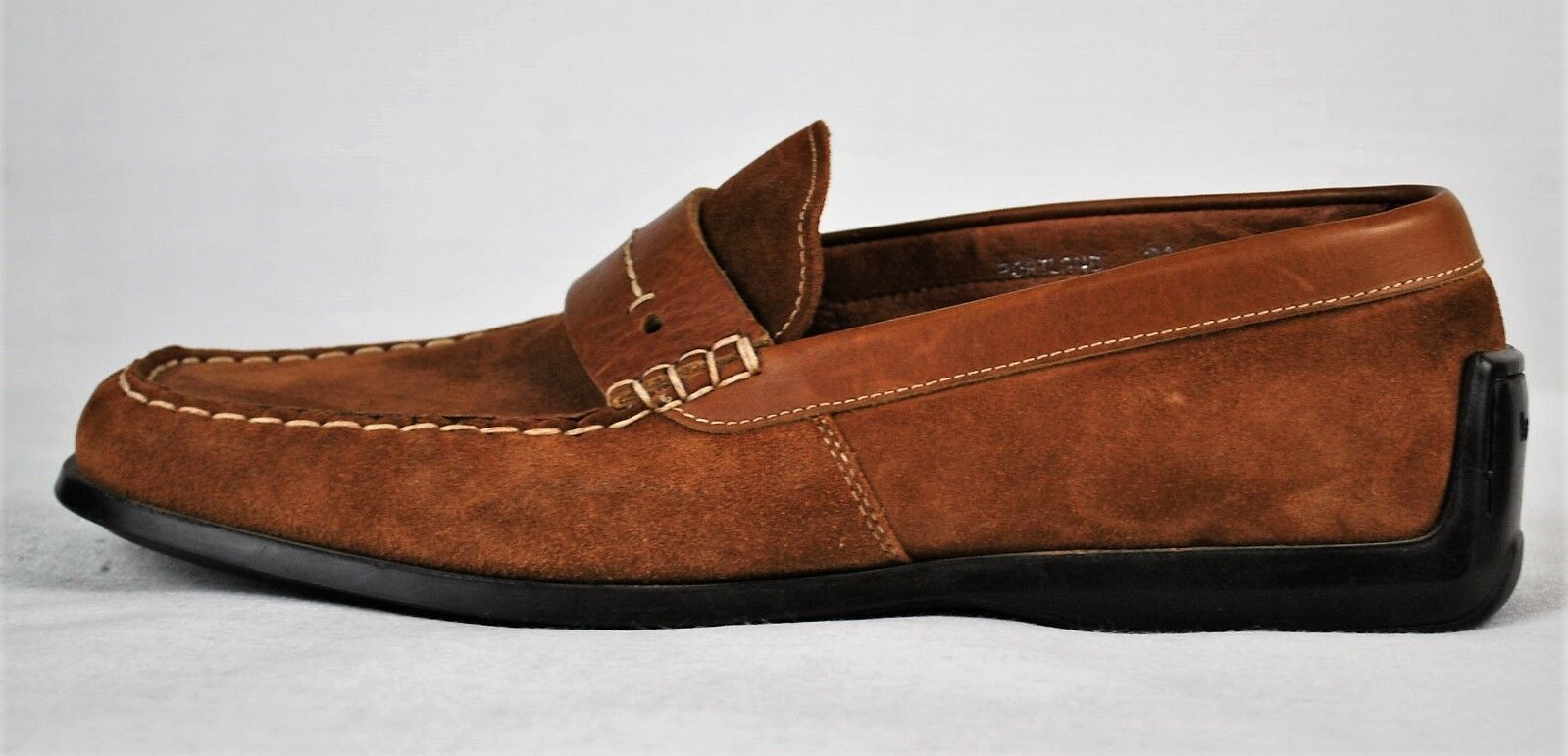 Bacco Bucci  Portland  Brown Suede Leather Loafer Slip on Driving shoes Size 8.5