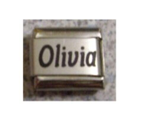 9mm Classic Size Italian Charm  Names Name Olivia