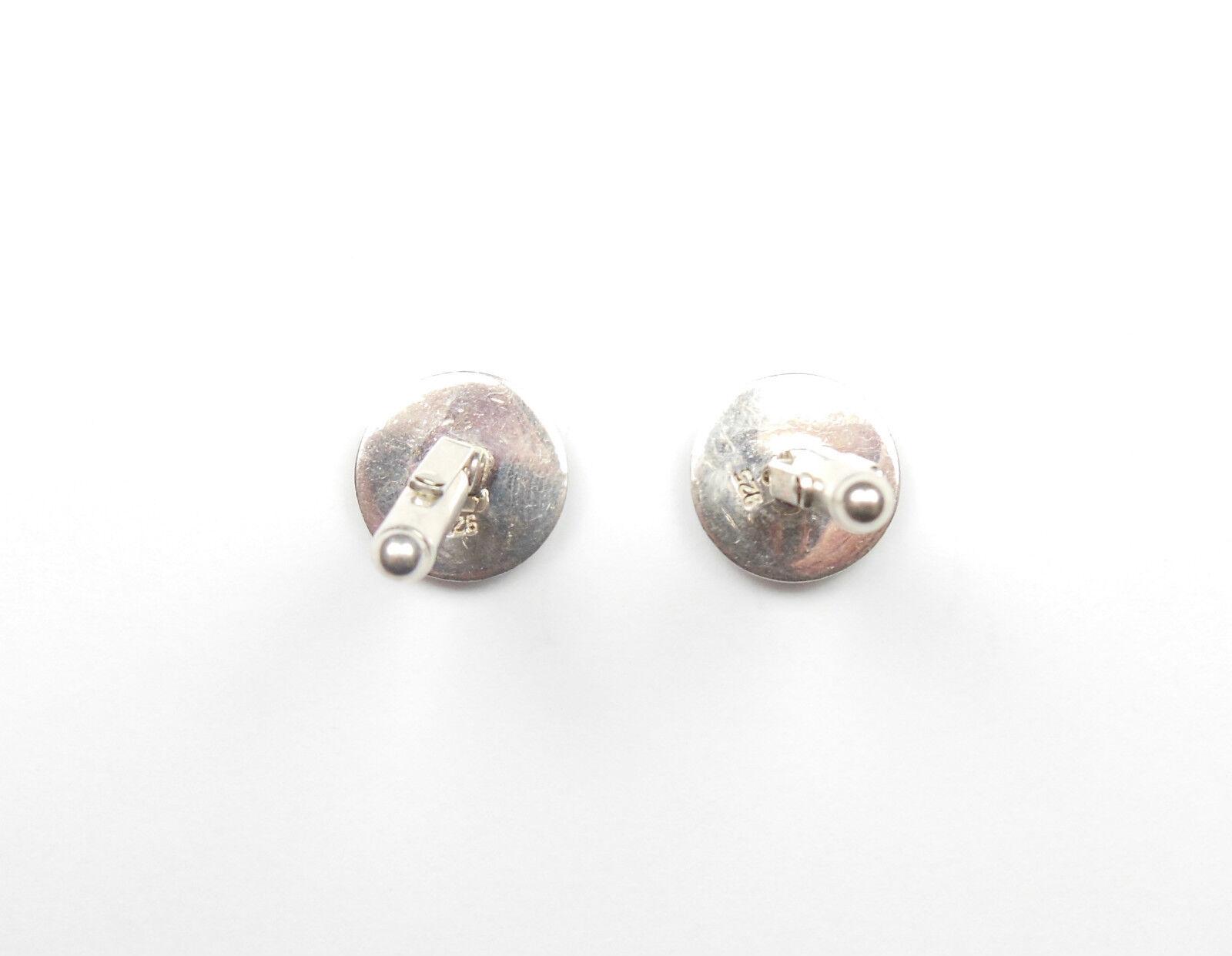Gemelli da uomo a forma di Diamante rossoonda rossoonda rossoonda argentoo Sterling 925 12g 0e39c1