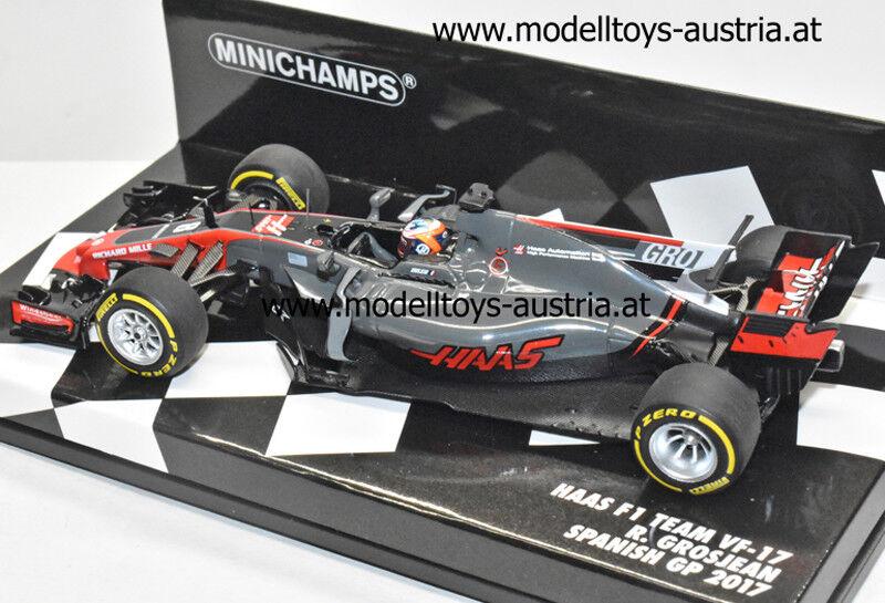 Haas F1 VF-17 Ferrari 2017 Romain GROSJEAN Spain GP 1 43 Minichamps PMA