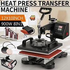 Pribcho 8 In 1 Heat Press Machine Swing Away Digital Sublimation T Shirt Mug