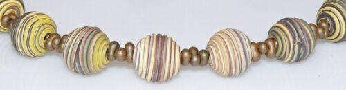Collar cadena Fimo espiral multicolor multicolor Farfalle marrón beige 380o