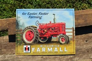 Farmall M Tractor Tin Sign - International Harvester - IH - McCormick-Deer<wbr/>ing