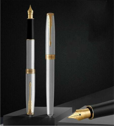 Outstanding Hi-Q Stainless Steel Parker Sonnet Pen Medium Nib Fountain Pen