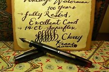 VTG Waterman 100 Years, Cherry Transparent, 14Ct Ideal Super Flex, Restrd Workg