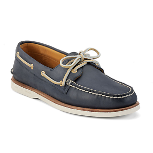 Sperry Top Sider WOMENS  Boat shoes gold Cup A O 2 Eye Navy STS93109 SZ 5 M