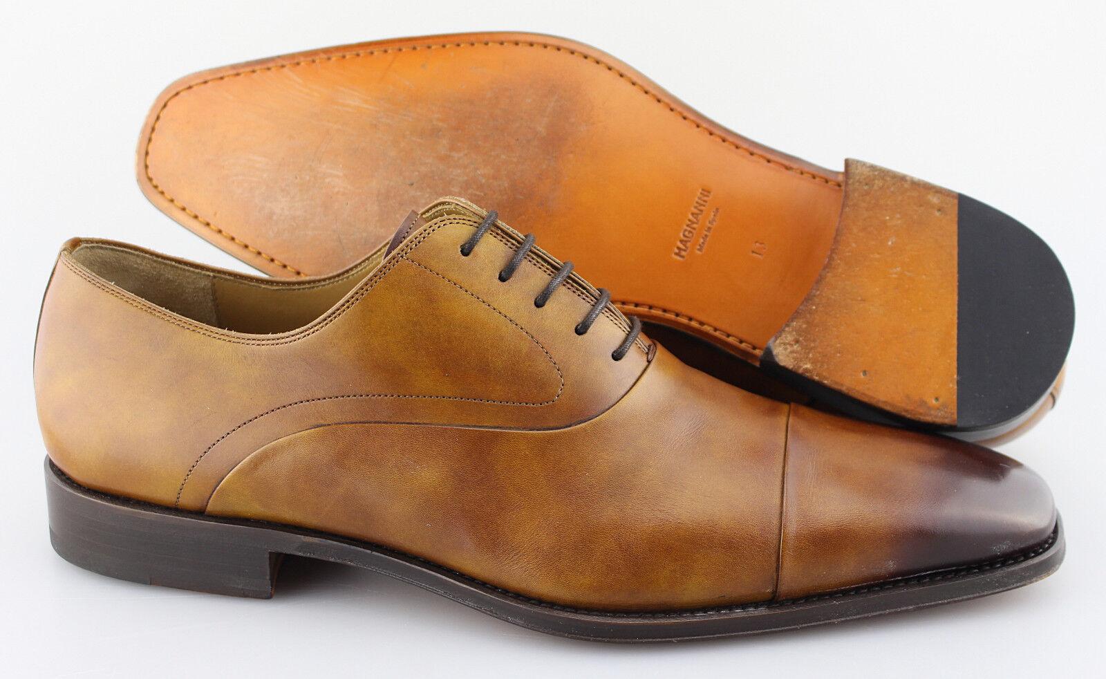 Men's MAGNANNI 'Saffron' Marronee Leather Cap Toe Oxfords Dimensione US 13 - D