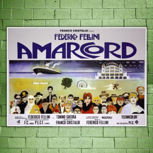 100x70 Cm Size Film Poster Amarcord Friedrich Fellini