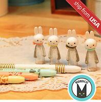Lot M&g Miffy Black Gel Ink Pens Cute Rabbit Figurine Cap Pen Kawaii Stationery