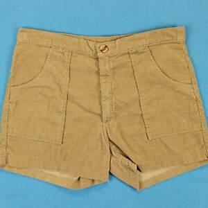 Homme-King-Road-Vintage-Short-Taille-36-80s-Marron-Velours-Surf-Longriders-Skate