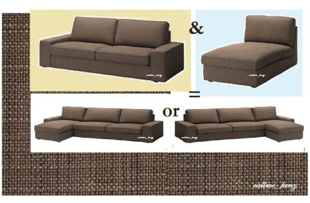 Astounding Ikea Kivik3 Seatsofa Chaise Lounge Isunda Brownsectional 4 Seatcover New Inzonedesignstudio Interior Chair Design Inzonedesignstudiocom