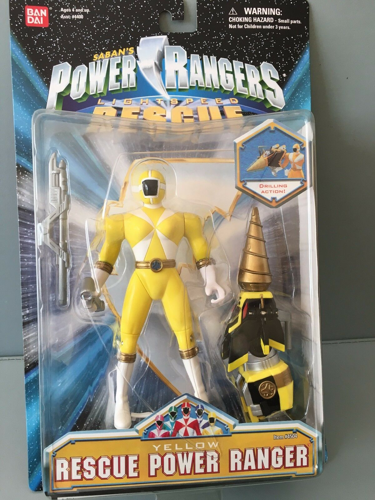 Power Rangers Lightspeed Rescue Ranger giallo Nuevo en Sellado Blister