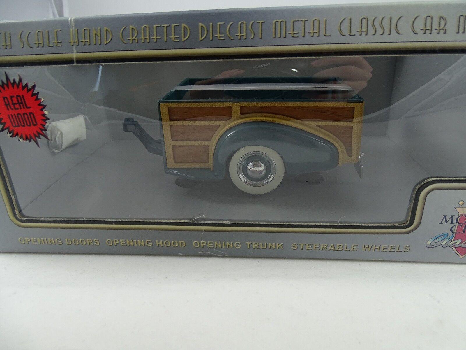 1 18 Mcc  71003 1939 Chevy Master Deluxe Woody Wagon Remolque verde Rareza§