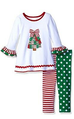 Bonnie Jean Christmas Outfits.Bonnie Jean Baby Girls Christmas Tree Holiday Dress Leggings Outfit Set 24m New 887031325070 Ebay