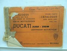 Ducati D250 250M Lightweight Motorcycles Spare Parts Catalog Price List L9546