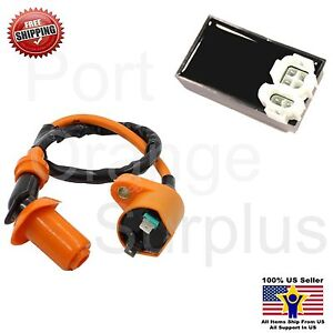 Details about CDI IGNITION COIL SETS YERF DOG SPIDERBOX GX150 GO KART 150CC  (orange)