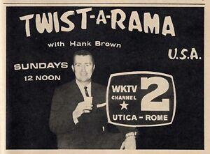 Details about 1968 UTICA,NEW YORK TV GUIDE~HANK BROWN HOSTS TWIST-A-RAMA  U S A  FRANK SINATRA