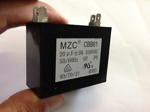 AIR CONDITIONER  PUMP FAN 20uf Capacitor 450Volt 50hz Motor Start Run CBB61