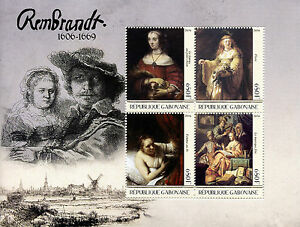 Gabon-2016-MNH-Rembrandt-4v-M-S-Art-Paintings-Stamps