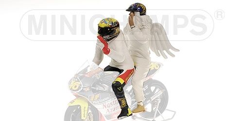 Valentino Rossi Pilota + Angel Figure GP 250 Rio World Champion 1999 1:12 Model