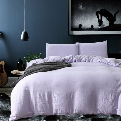 Soft Duvet Cover Sets Washed Cotton Bedding Set Pillowcase Twin//Queen//King Size